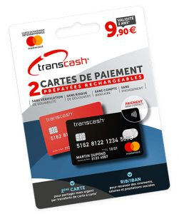 Mastercard prépayée transcash