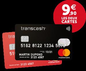 mastercard prépayée transcash en ligne